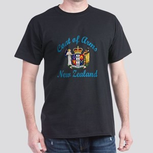 Coat Of Arms New Zealand Country Desi Dark T-Shirt