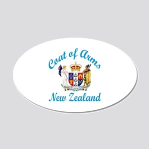 Coat Of Arms New Zealand Cou 20x12 Oval Wall Decal