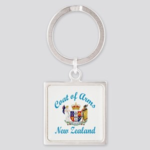 Coat Of Arms New Zealand Country D Square Keychain