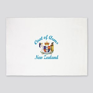 Coat Of Arms New Zealand Country De 5'x7'Area Rug