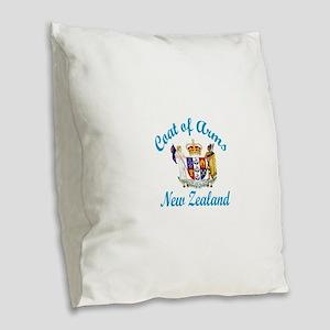 Coat Of Arms New Zealand Count Burlap Throw Pillow