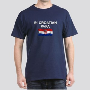 #1 Croatian Papa Dark T-Shirt