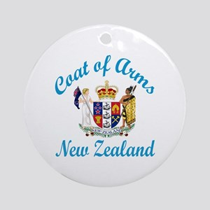 Coat Of Arms New Zealand Country De Round Ornament