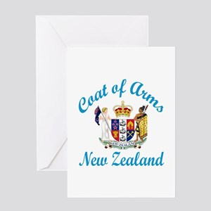 Coat Of Arms New Zealand Country Des Greeting Card