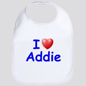I Love Addie (Blue) Bib