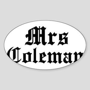Mrs Coleman Oval Sticker