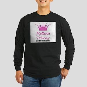 Maltese Princess Long Sleeve Dark T-Shirt