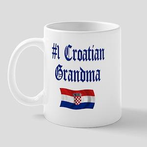 #1 Croatian Grandma Mug