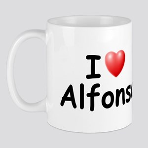 I Love Alfonso (Black) Mug