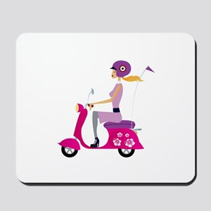 Scooter Girl Mouse Pad