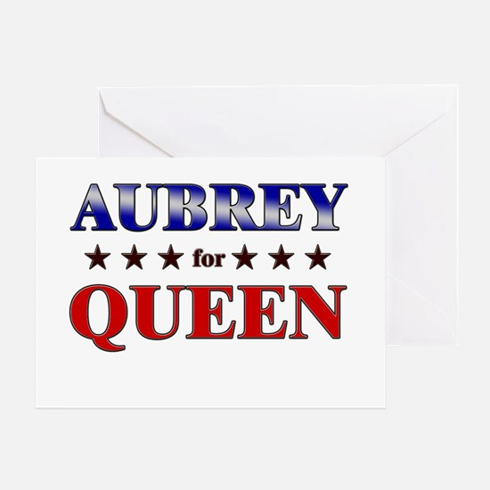 AUBREY for queen Greeting Card