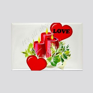 Christmas is about love Magnets