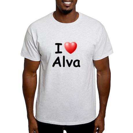 I Love Alva (Black) Light T-Shirt