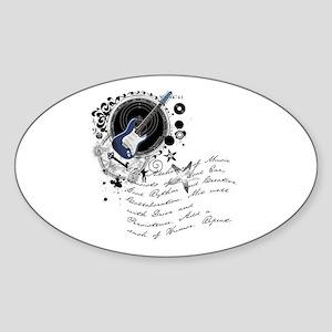 The Alchemy of Music Oval Sticker