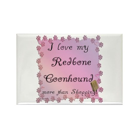 Coonhound Shopping Rectangle Magnet