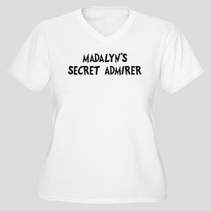Madalyns secret admirer Women's Plus Size V-Neck T