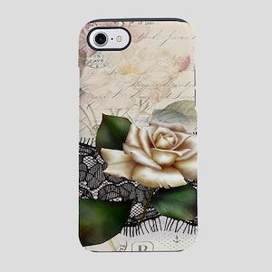 black lace white rose Paris iPhone 8/7 Tough Case