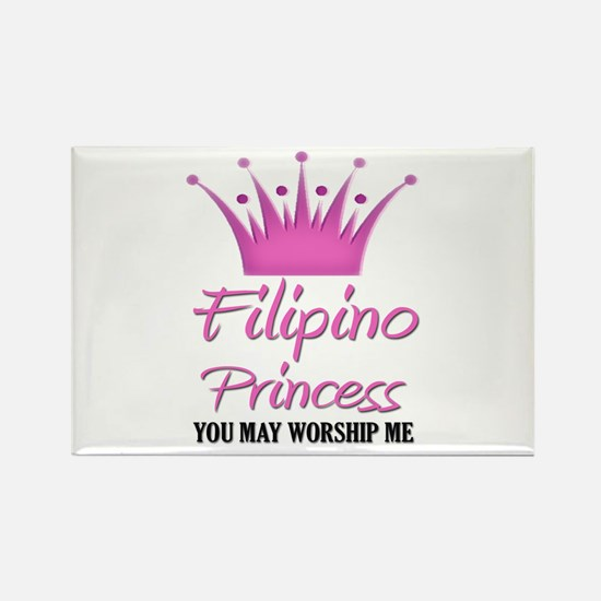 Filipino Princess Rectangle Magnet
