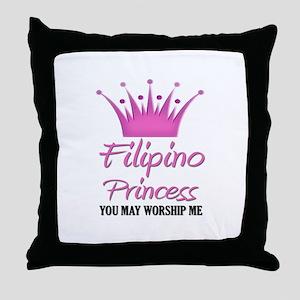 Filipino Princess Throw Pillow
