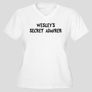 Wesleys secret admirer Women's Plus Size V-Neck T-