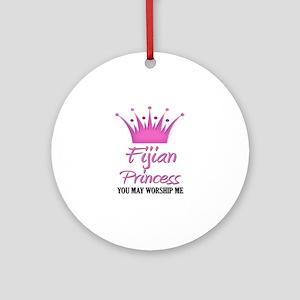 Fijian Princess Ornament (Round)