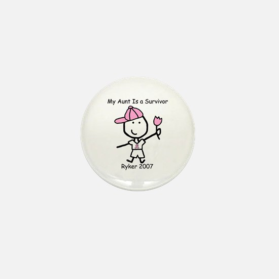Pink Ribbon - Ryker Mini Button