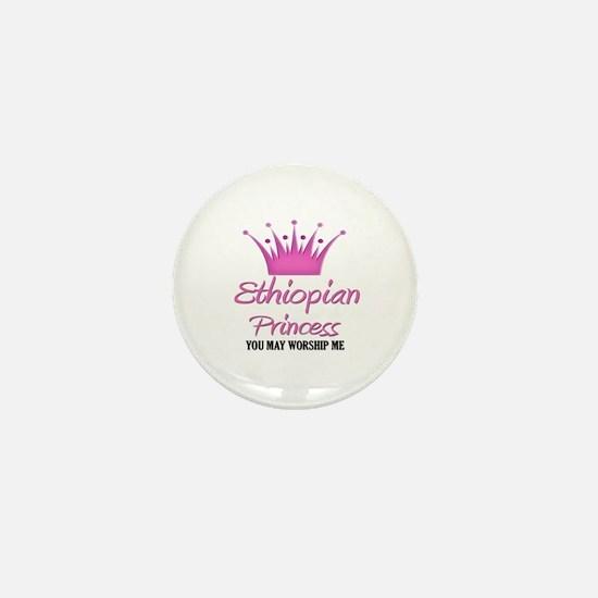 Ethiopian Princess Mini Button