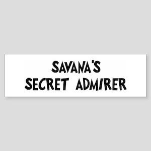 Savanas secret admirer Bumper Sticker