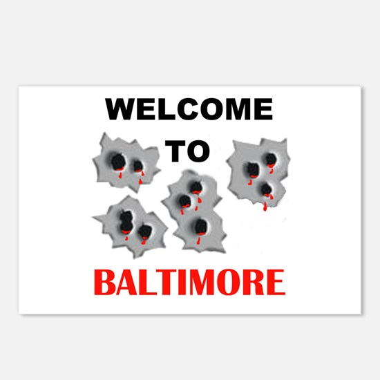 BALTIMORE WELCOME Postcards (Package of 8)