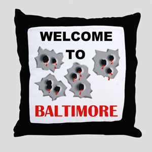 BALTIMORE WELCOME Throw Pillow