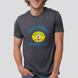 Coat Of Arms Mali Madagasca Mens Tri-blend T-Shirt