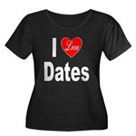 I Love Dates (Front) Women's Plus Size Scoop Neck