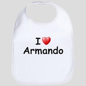 I Love Armando (Black) Bib