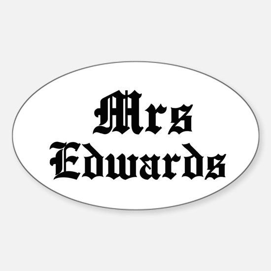 Mrs Edwards Oval Decal