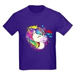 Kids Happy Rainbow Unicorn T-Shirt