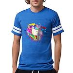 Happy Rainbow Unicorn Football T-Shirt