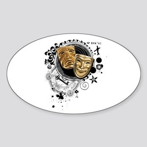 Alchemy of Theatre Production Oval Sticker