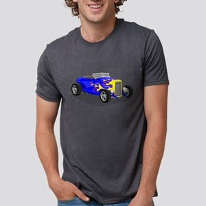 1932 Highboy Blue with Flames T-Shirt