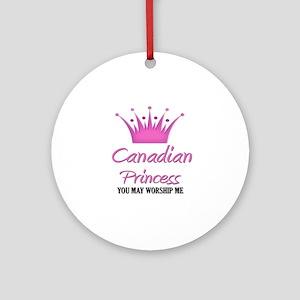 Canadian Princess Ornament (Round)