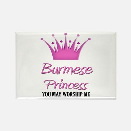 Burmese Princess Rectangle Magnet