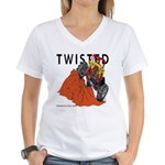 TWISTED Women's V-Neck T-Shirt