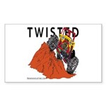 TWISTED Rectangle Sticker