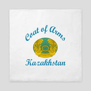 Coat Of Arms Kazakhstan Country Design Queen Duvet