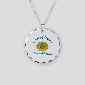 Coat Of Arms Kazakhstan Coun Necklace Circle Charm