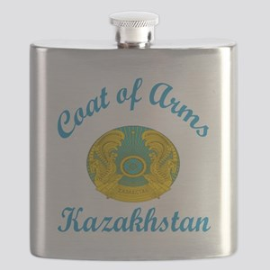 Coat Of Arms Kazakhstan Country Designs Flask