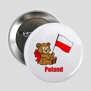 """Poland Teddy Bear 2.25"""" Button (10 pack)"""