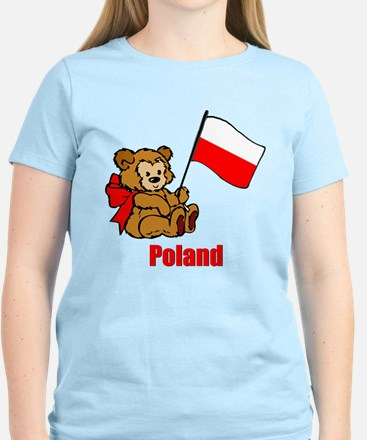 Poland Teddy Bear Women's Light T-Shirt