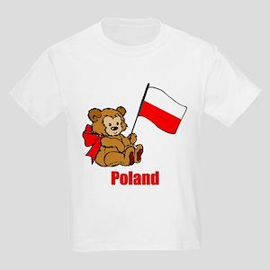 Poland Teddy Bear Kids Light T-Shirt