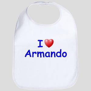 I Love Armando (Blue) Bib