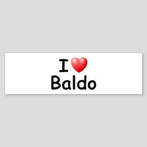 I Love Baldo (Black) Bumper Sticker